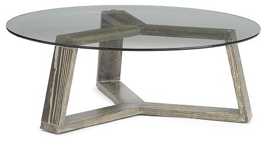 Perfect Ion Glass Round Coffee Table Contemporary Coffee Tables