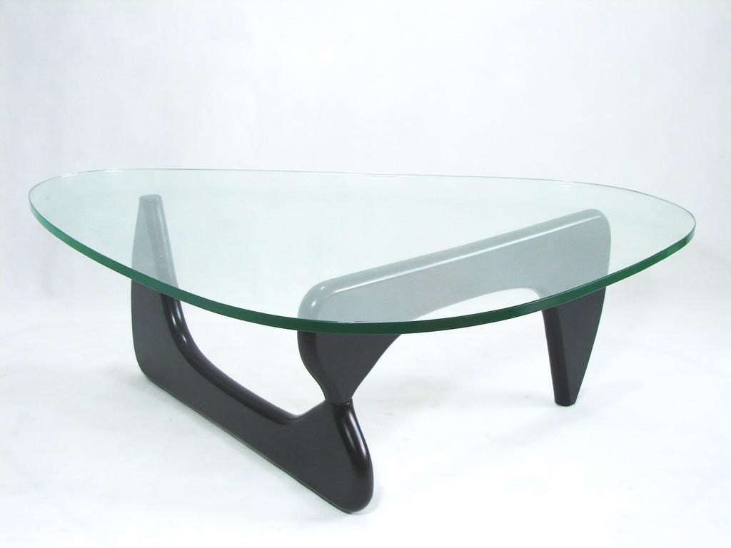 Isamu Noguchi Glass Coffee Table This Item Will Be Hand Unloaded And Carefully Placed In Your Home Or Office By Two Professionals (Image 7 of 10)