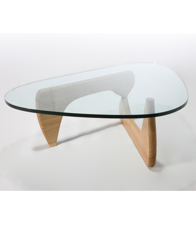 Isamu Noguchi Glass Coffee Table This Service Does Not Include Assembly Or Rubbish Removal Standard Solid Timber Base Tempered Glass Top (Image 8 of 10)