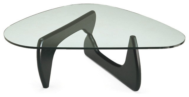 Isamu Noguchi Glass Coffee Table He Heavy Plate Glass Top Of The Coffee Table Rests On Two Identical Wooden Elements Placed At Right Angles (Image 2 of 10)