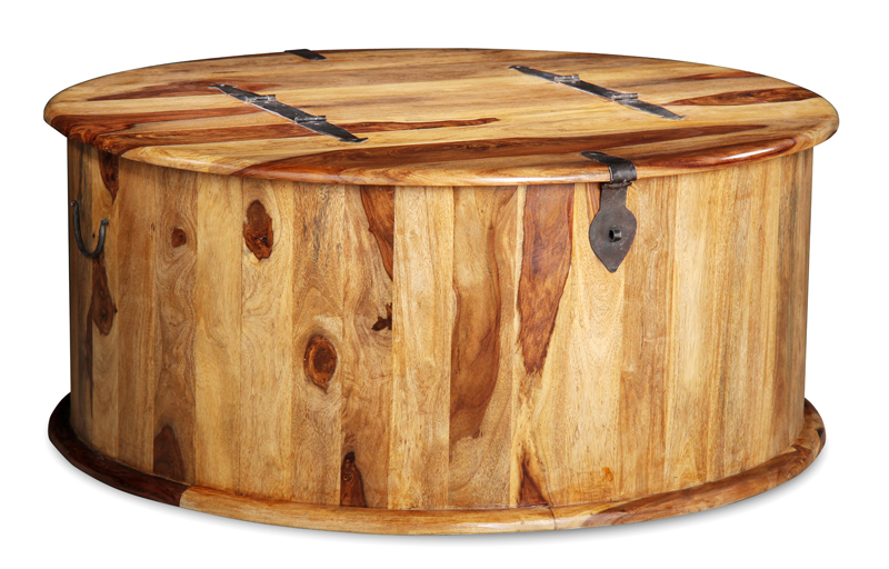 Jali Light Round Trunk Coffee Table Round Trunk Coffee Table (Image 6 of 10)