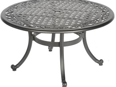 Kingston Cast Aluminum Patio Coffee Table Because Cast Aluminum Is Extremely Strong And Much Lighter Than It Looks Round Patio Coffee Table (View 5 of 10)