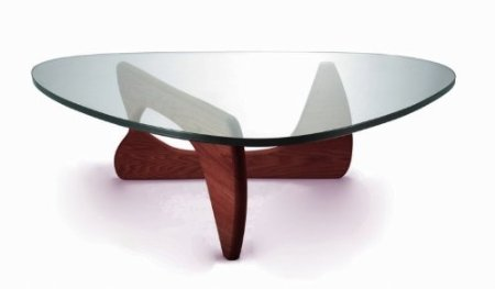 Kirch Gef 222 Walnut Noguchi Tribeca Coffee Table Round Glass And Wood Coffee Table Circular Coffee Tables (Image 2 of 10)