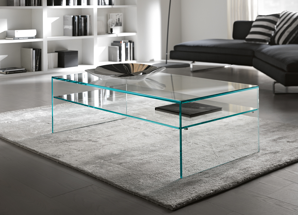 Large Glass Coffee Tables Foe Example These Top 4 Coffee Table Designs Are All Made Of Glass But They Dont Look The Same (Image 3 of 9)