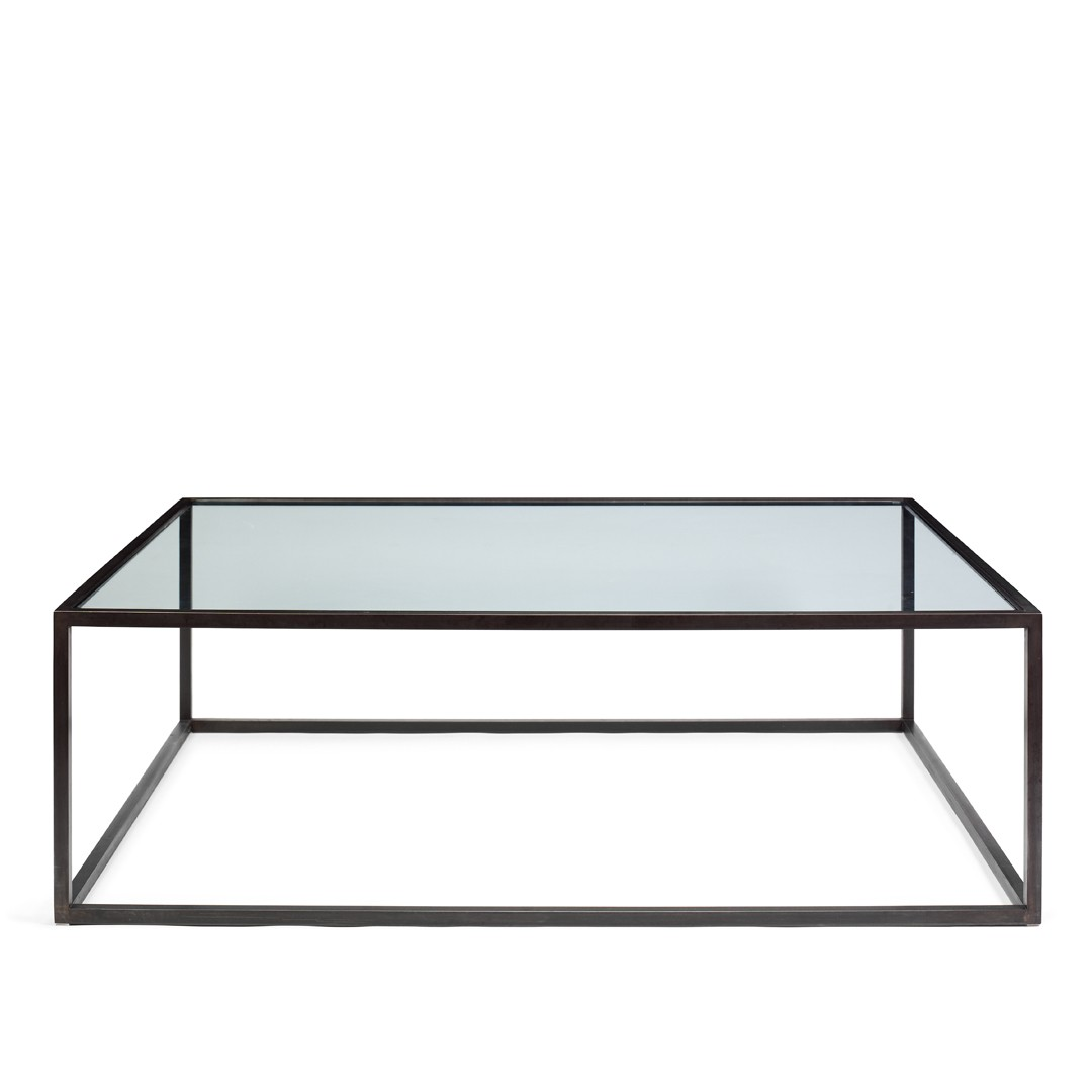 Large Glass Coffee Tables Pezzani Modern Square Stain Glass Top Coffee Table Various Colours Simple Design Ideas (Image 6 of 9)