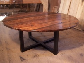 large-round-coffee-table-with-industrial-metal-base-48-inch-round-top-height-18-inches-hubs-to-make-one-day (Image 5 of 10)