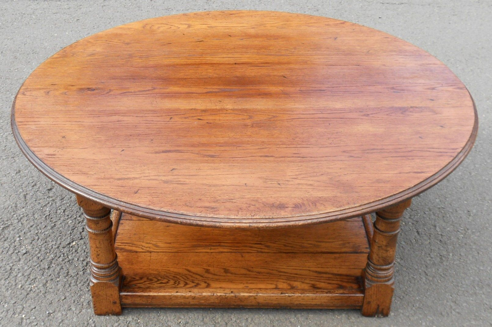 Large Round Oak Coffee Table Mondo Large Round Coffee Table Large Midcentury Round Coffee Table (View 8 of 10)