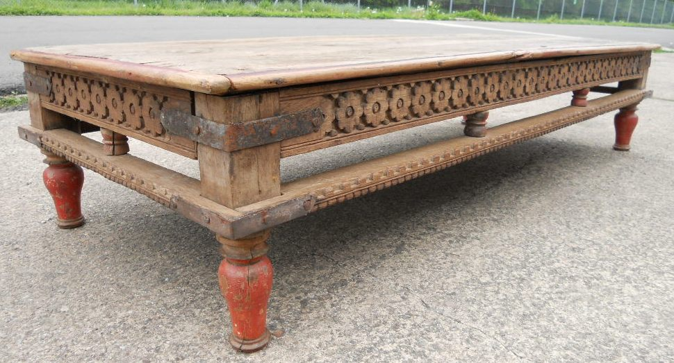 Large Rustic Style Wood Coffee Table Large Rustic Style Wood Coffee Table Large Rustic Coffee Table (Image 6 of 10)