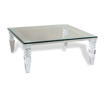 Large Square Glass Coffee Table Eugenie By Marjorie Skouras United States Clear Acrylic Coffee Tables With Glass Top Custom Sizes Available List Price (View 5 of 10)