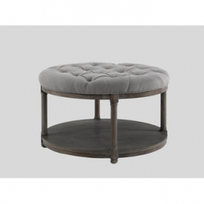 Leather Round Storage Ottoman Coffee Table Cool Round Ottoman Coffee Table For Your Home Ideass (Image 7 of 8)