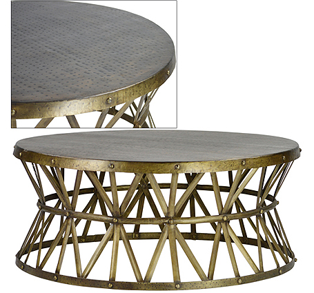 lionel-round-coffee-table-round-brass-coffee-table-beautiful-brass-ring-coffee-table-end-tables (Image 7 of 10)