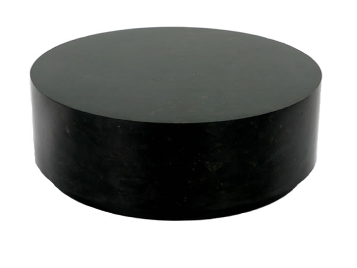 living-room-cocktail-tables-solid-round-coffee-table-solid-wood-furniture-simple-black-round-wooden-stained-coffe-table (Image 5 of 10)