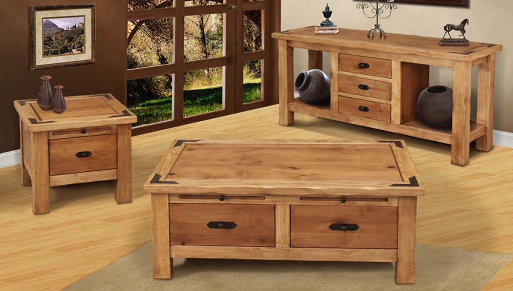 Living Room With Outside Garden View Design And Rustic Wood Coffee Table Featured Smart Storage Idea (View 3 of 10)
