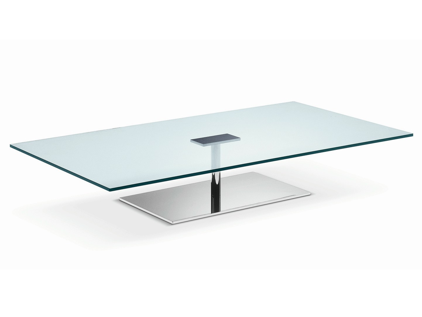 Low Glass Coffee Table Three Versions Available With Round Rectangular Or Square Base And Top Tables Interior Modern (View 9 of 10)