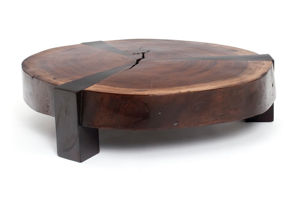 Low Round Wood And Iron Coffee Table Low Round Wood Coffee Table Low Tables Small Coffee Tables (View 5 of 10)