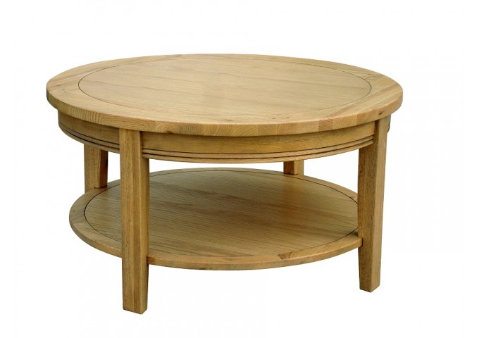 Lucerne Oak Round Coffee Table Oak Coffee Table Small Round Coffee Tables Round Glass Coffee Tables (Image 5 of 10)
