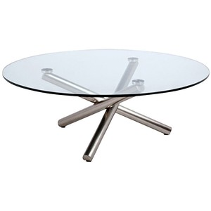 Displaying Gallery Of Small Coffee Table Round Glass Top View Of - Round glass coffee table with chrome legs