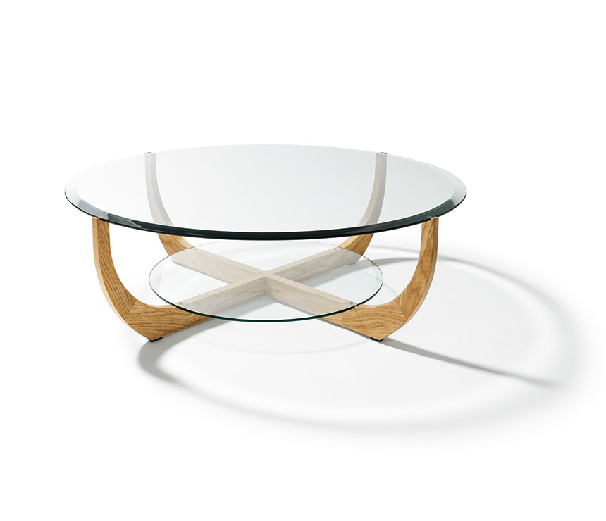 Luxury Glass Coffee Table Coffee Table Round Glass And Wooden Large Coffee Tables Round Coffee Tables Living Room (Image 6 of 10)