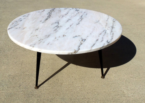 marble-coffee-table-round-1960-mid-century-mode-round-marble-coffee-table-white-stone-or-marble-coffee-tables-design-ideas (Image 1 of 10)