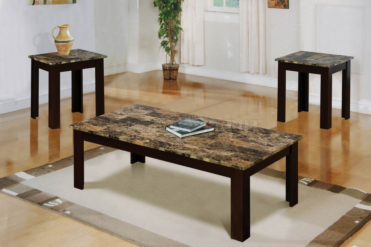 Marble Top Coffee Table Sets Make A Statement In Your Living Room With A Three Piece Occasional Table Set Thats Sure To Take Center Stage (Photo 7 of 10)