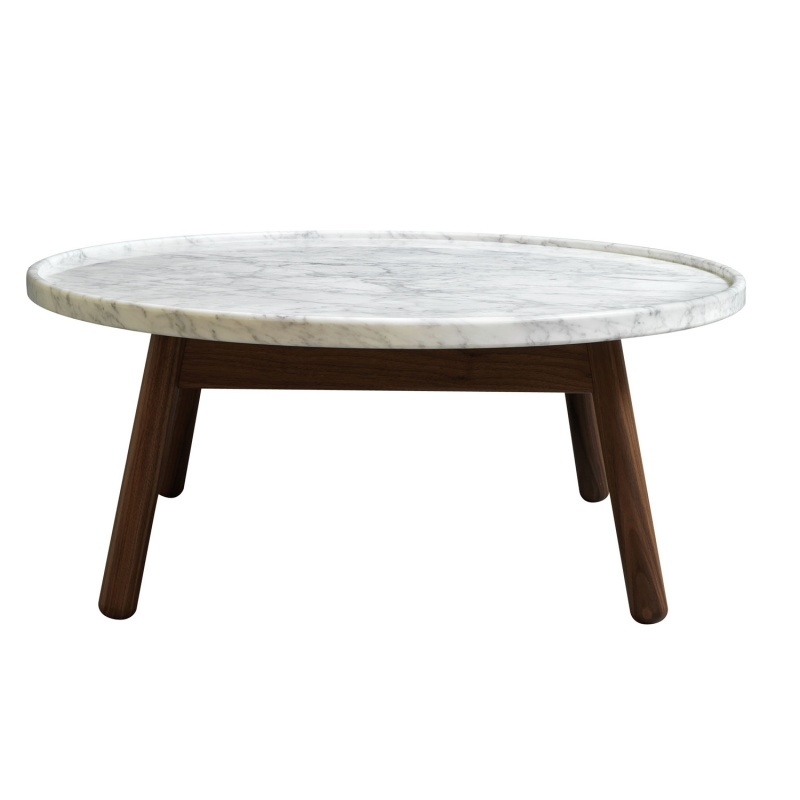 Marble Top Round Coffee Table Carve Coffee Table