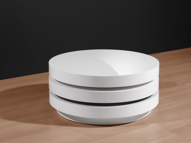 Marvelous White Round Coffee Table 2016 White Coffee Tables End Tables For Living Room Contemporary Style Storage Shelf (View 3 of 10)