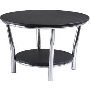 Maya Round Back Coffee Table And End Table Bundle Includes Steel Chrome 4 Legs Round Coffee Table And End Tables (View 5 of 10)