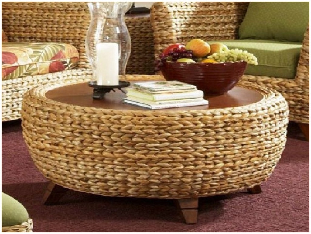 Meaningful Seagrass Coffee Table Seagrass Coffee Table Round 36 Inch Seagrass Coffee Table And Matching End Table (Image 3 of 10)