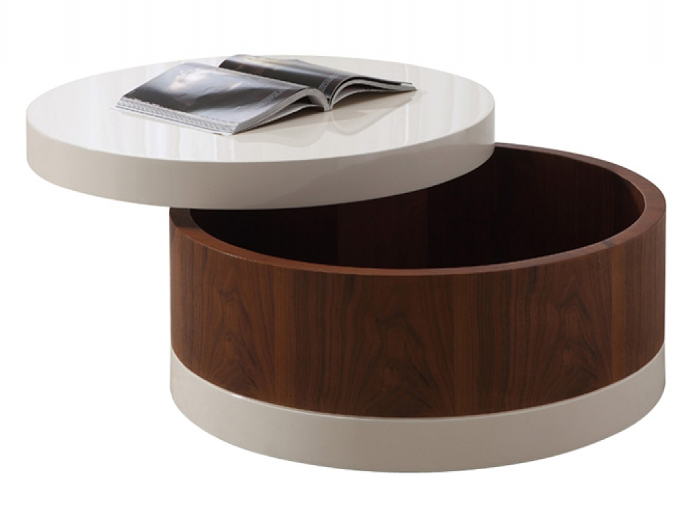 Metal And Round Wood Coffee Table Round Coffee Table With Storage Large Storage Coffee Table Storage Tables For Kitchen (Image 5 of 10)