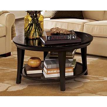 metropolitan-round-coffee-table-mahogany-round-coffee-table-mahogany-tea-table-furniture-round-mahogany-end-table (Image 7 of 10)