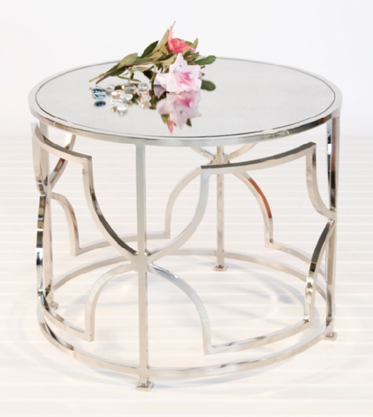 Mirrored Coffee Table Look 4 Less And Steel Mirrored Round Coffee Table Plantation Design Mykonos Side Table (Image 4 of 10)