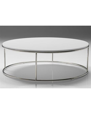 Mobital Elysee 39 Round High Gloss White Coffee Table Unique Items For White Coffee Table Round White Coffee Table (Image 2 of 10)