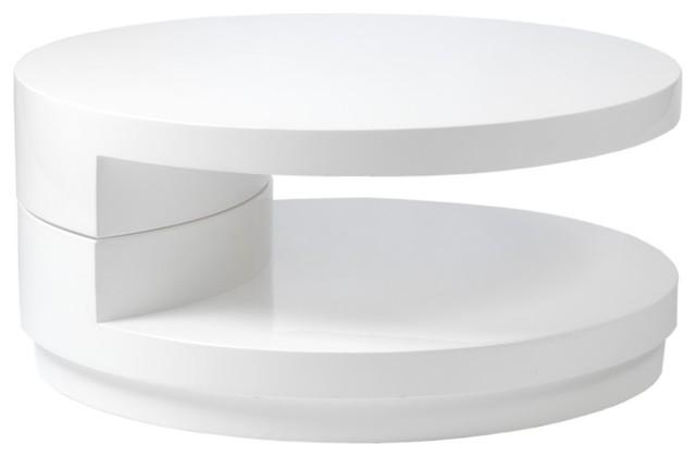 Modern Coffee Tables Modern White Coffee Table Ital Modern Sybil Round Coffee Table White Round Coffee Table White (Image 5 of 10)