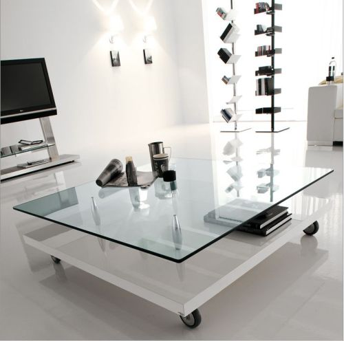 Modern Glass Top Coffee Foe Example These Top 4 Coffee Table Designs Are All Made Of Glass But They Dont Look The Same (View 2 of 9)