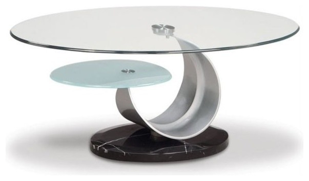 Modern Glass Top Coffee Tables The Glass Top And Black Base Will Made It A Perfect Fit In The Contemporary Room In Which You Are Planning To Use This Table (Image 7 of 9)