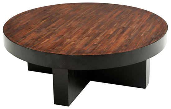 Modern Or Rustic Round Coffee Table Round Reclaimed Wood Coffee Table Rustic Modern Wood Round Coffee Tables (Image 2 of 10)