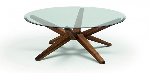 Modern Round Coffee Table As Coffee Tables For Painting Coffee Table The Fancy Black Walnut Coffee (Image 8 of 10)