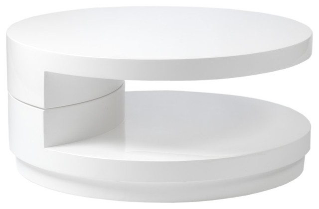 Modern White Coffee Table Italy Modern Sybil Round Coffee Table White Modern Coffee Tables Round White Coffee Tables (Image 2 of 10)