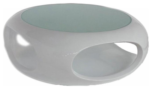 Modern White Round Coffee Table Contemporary Round Glossy White Coffee Table Dante Modern Coffee Tables (Image 5 of 10)