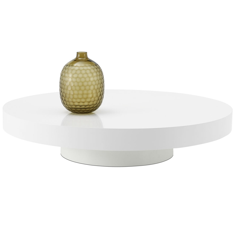 Modern White Round Coffee Table Tos Tik Rou White Coffee Tables White Modern White Coffee Tables Round White Coffee Tables (Image 8 of 10)
