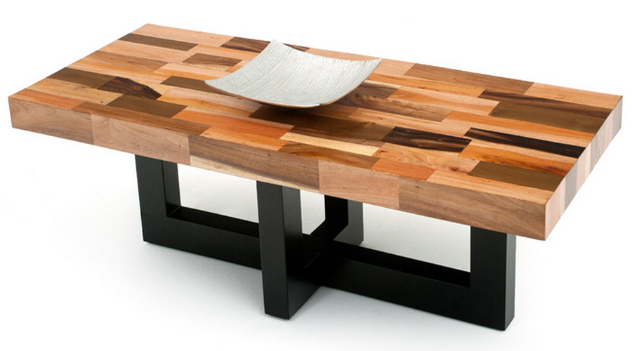 modern-wood-coffee-tables-Modern-wood-coffee-table-reclaimed-metal-mid-century-round-natural-diy-Contemporary- (Image 9 of 10)