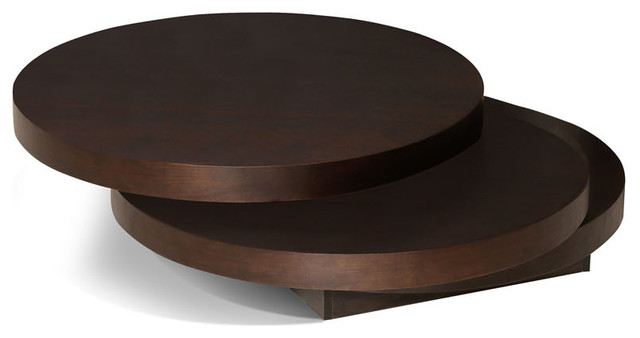 moes-home-torno-round-coffee-moes-home-torno-round-coffee-table-in-dark-brown-traditional-round-dark-wood-coffee-table (Image 3 of 10)