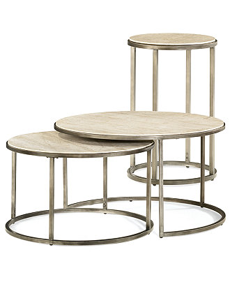 Monterey Round Tables 2 Piece Set Nesting Coffee Table Round Contemporary Round Nesting Coffee Tables (Image 7 of 10)