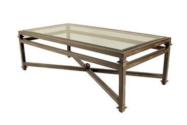 montreal-coffee-table_Kreiss-Montreal-Coffee-Table-Rustic-Glass-Coffee-Table-with-glass-on-the-top (Image 6 of 10)
