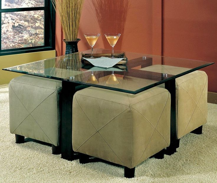 My Favorite So Far Glass Coffee Table With Ottomans Underneath Cermak Glass Coffee Table Round Coffee Table With Ottomans Underneath (Image 5 of 10)