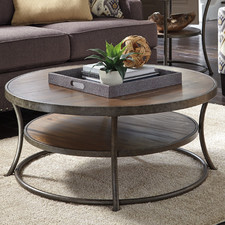 Nartina Coffee Table Coffee Table Round Wood Large Round Coffee Table Unique Items For Round Coffee Table Wooden Coffee Tables (Image 5 of 10)
