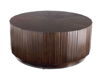 Nassau Coffee Table Dark Brown Solid Wood Round Coffee Table Large Solid Wood Coffee Tables Solid Wood End Tables (View 5 of 10)