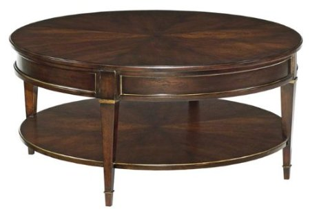 New Large Round Cocktail Coffee Table Gilt Accents Ebonized Mahogany Large Round Coffee Tables (View 10 of 10)