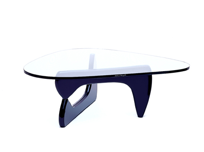 noguchi-glass-coffee-table-ebonized-birch-two-piece-base-with-aluminum-rod-connector-supports-original-biomorphic-thick-green-glass-top (Image 2 of 10)