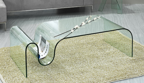 One Piece Glass Coffee Table Contemporary Glass Coffee Table 10 Glass Coffees Tables With Minimalist Design (View 3 of 10)
